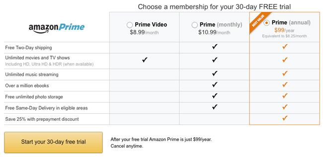 米Amazon Prime