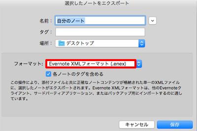 Evernote XMLフォーマット