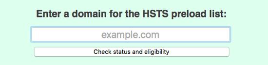 HSTS Preload list