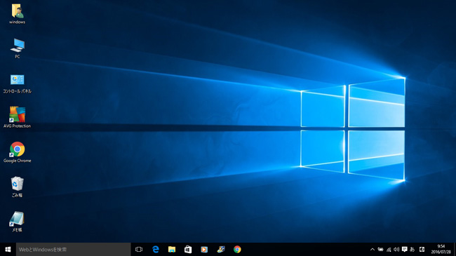 Windows10のインストールが完了