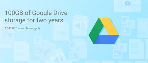 Googleドライブ 100GB