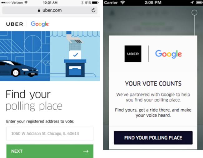 Uber 投票所