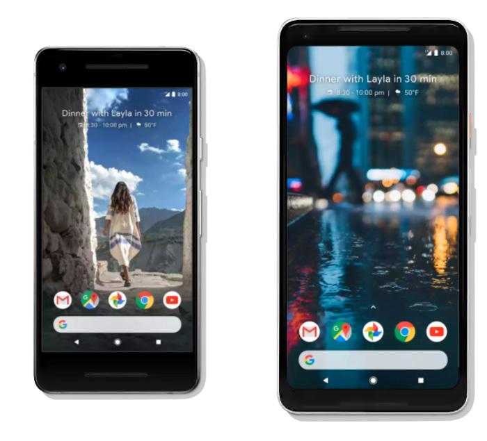 Pixel 2とPixel 2 XLのサイズの違い