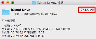 確保されたiCloud容量は、全然使われていない