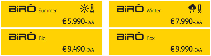 BIRO(ビロ)のイタリアとの価格差