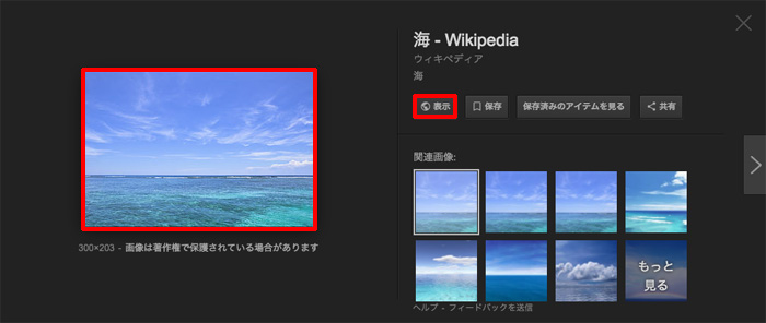 Google画像検索の画像を元のサイトで表示