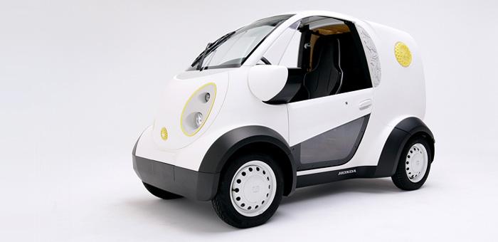 ホンダとカブクにより共同開発された一人乗りの電気自動車