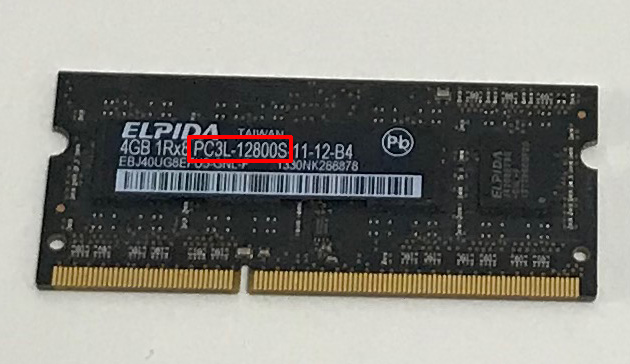 iMac 2013に搭載されている標準メモリ