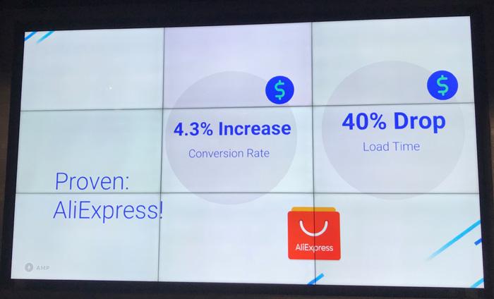 AliExpressは商品ページをAMP化したところ、コンバージョンが4.3%上がる
