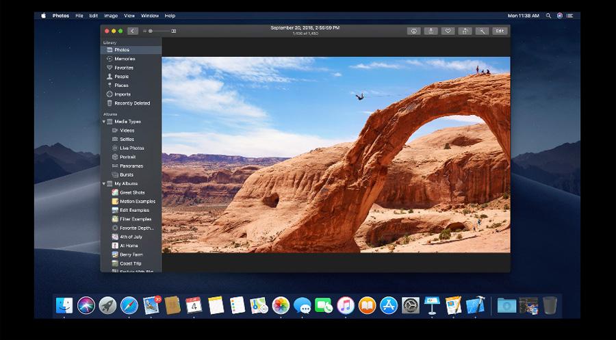 macOS Mojaveのダークモード