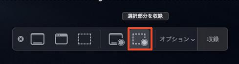 Mac 「選択した画面のみ録画」