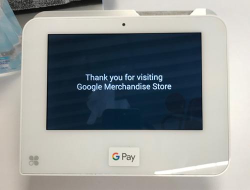 Google Merchandise Storeでは、Google Payが利用できる