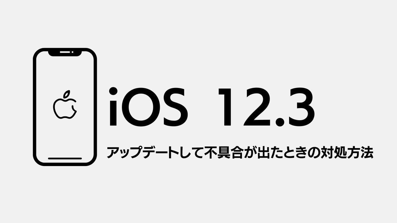 iOS12.3がリリース