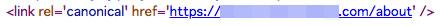 BASEのトップページ以外のcanonicalタグは、「ホスト名の後ろに / なし」のURL