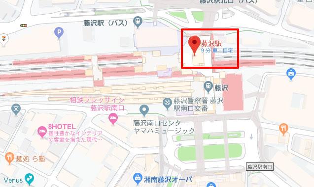 Googleマップ、直線距離を測定、始点をクリックして赤いピンを立てる