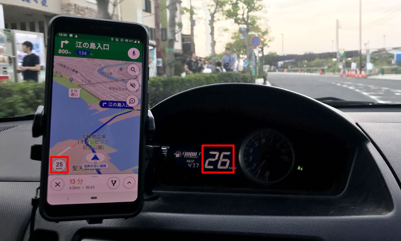 Googleマップの速度表示は正確