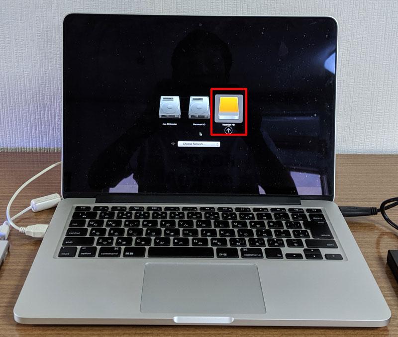 macOSの入った外付けハードディスクで起動する