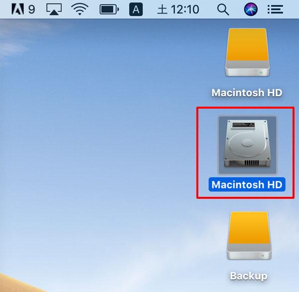 起動しないMacがハードディスクとしてマウントされる