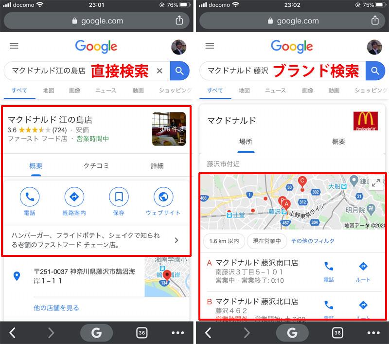 直接検索とブランド検索