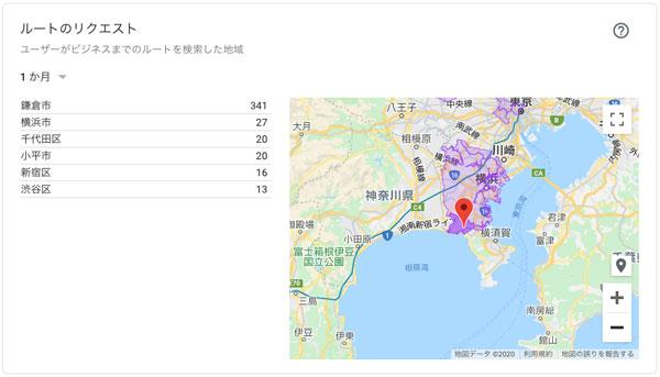 「ルートのリクエスト」地図を拡大する