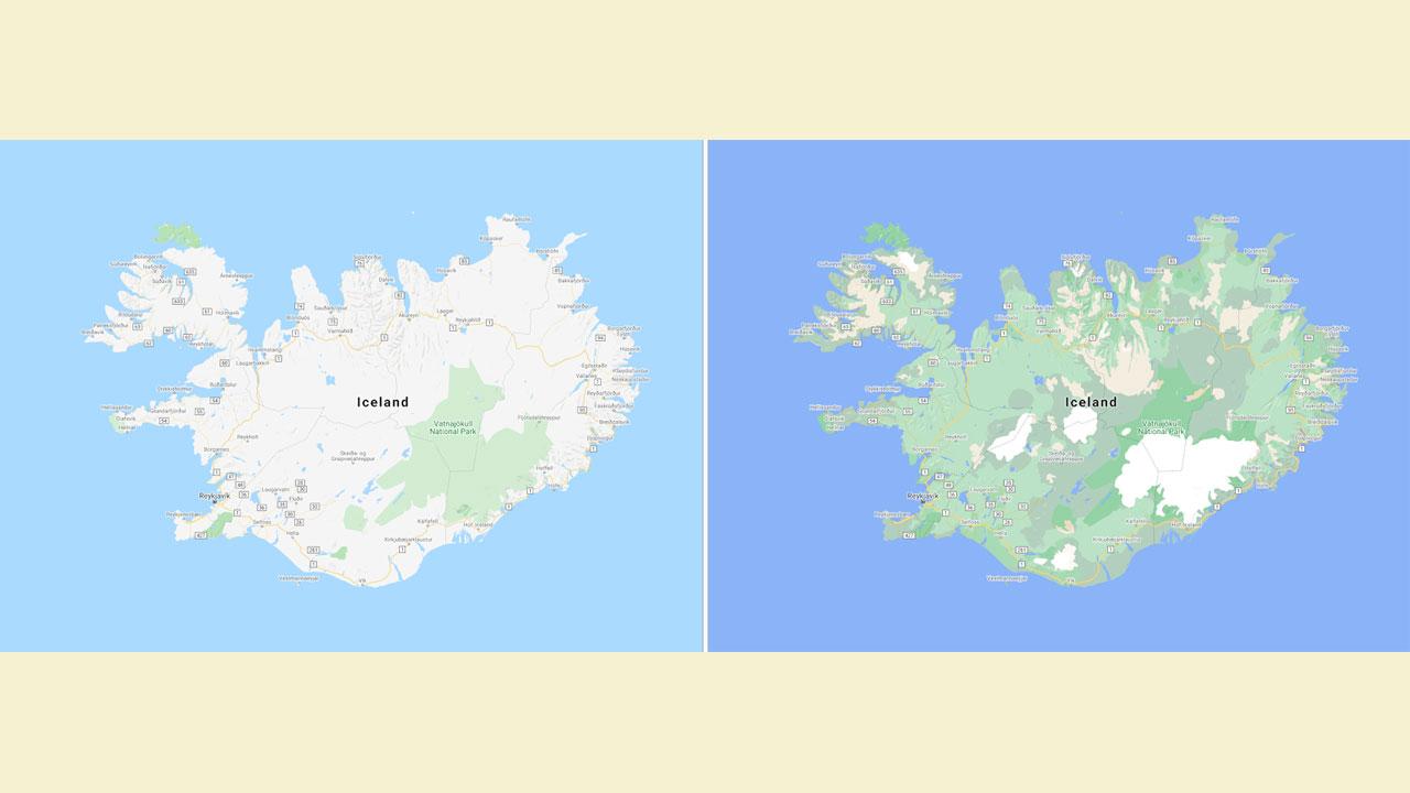 Googleマップ、よりカラフルで鮮やかな地図になる